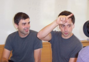 Larry Page and Sergey Brin in 2003 By Ehud Kenan - originally posted to Flickr via Wikipedia