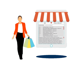 Woman Shopping Graphic
