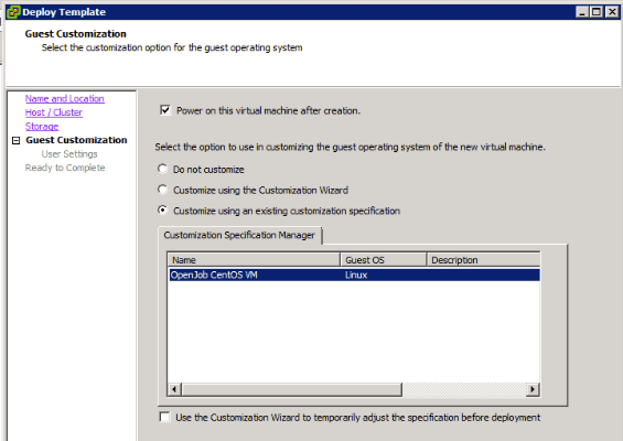 vCenter customization wizard for CentOS - Virtual to the Core
