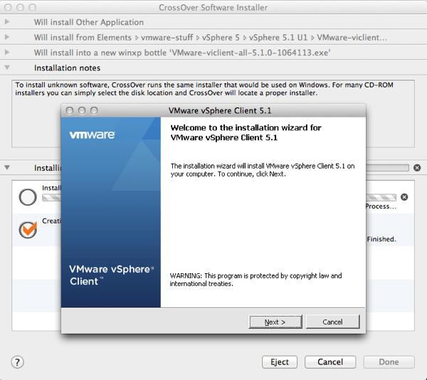 Crossover vClient Installation