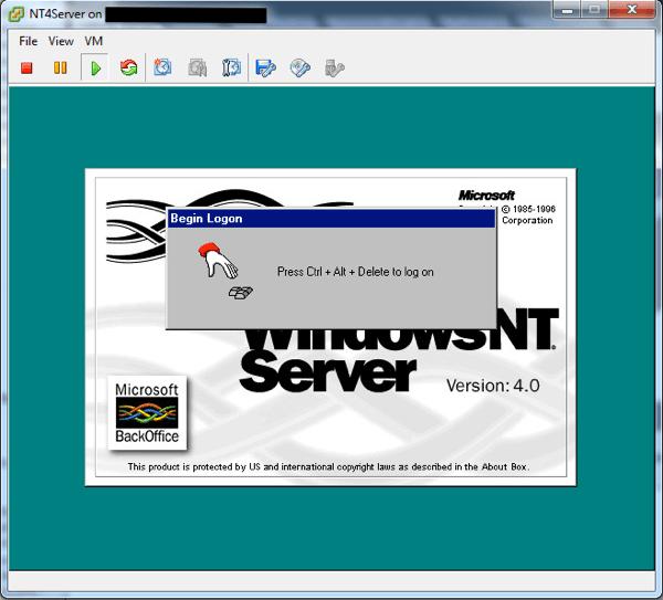 NT4 running on ESXi 5.1