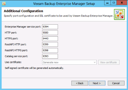 Veeam 7 TCP ports configuration