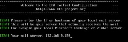 Efa local mail server