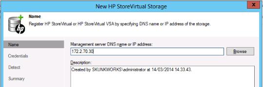 Set StoreVirtual Virtual IP