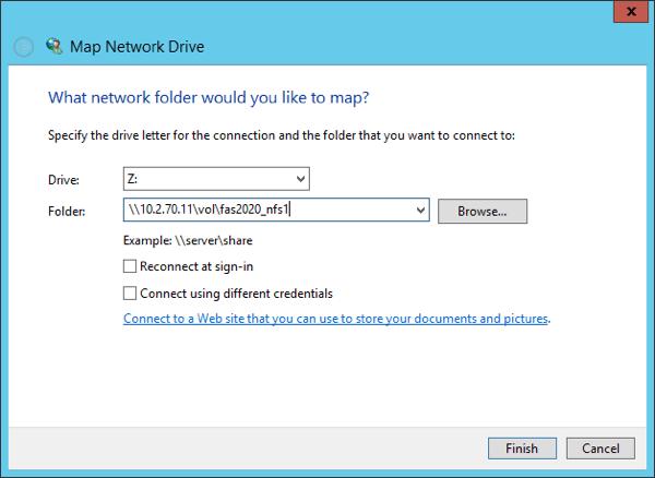 Mount NFS share on Windows