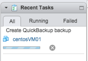 Quick Backup in Recent Taks