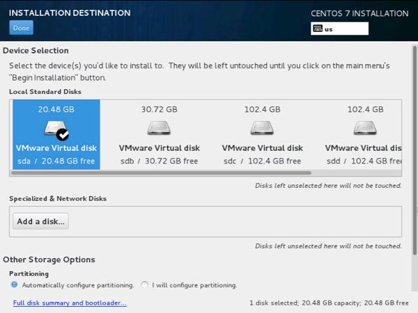Centos7 install disk