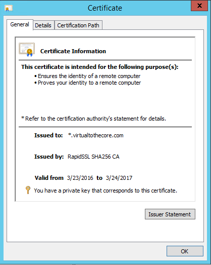 Use Let's Encrypt free certificates in Windows for Veeam
