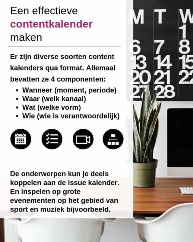 Contentkalender Virtueel Assistent Nodig