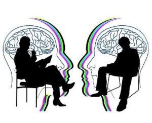twee mensen en hersenen