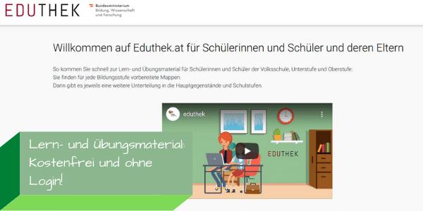 Detail Website Eduthek, (c) BMBWF, bearbeitet durch Virtuelle PH