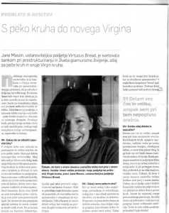 Jane Mason interviewed in Management Magazine, the top Slovenian Management Magazine about work life balance and career change