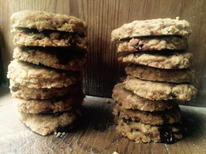 Dark Chocolate and Fennel oatcakes baked by Liz Wilson.