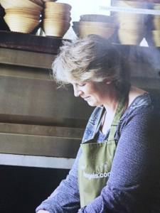 Bread Angel Lucie Steel baking in her sea container in Berkshire