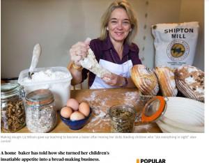Liz Wilson - one of best 5 bakers of real bread in London