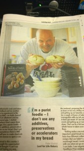 Peter Voshol, Bread Angel, in the Cambridge News