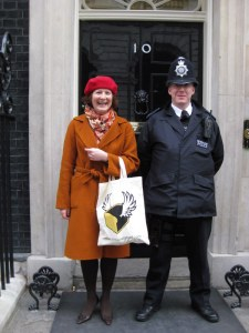 Jane at Number 10 with The Prime Minister's Loaves