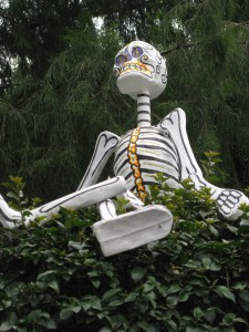 day of the dead skeleton in coyoacan