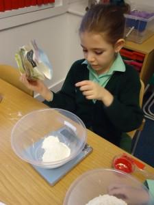 Baking with children at Sarum Hall School 1