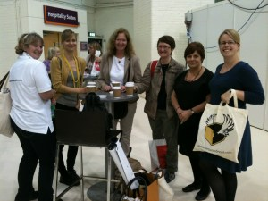 Bread Angels and friend at the Cake and Bake show