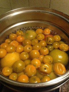 Boiling the whole fruit