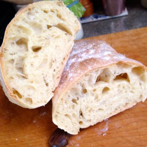 "ACI Ciabatta - judges like the holes.  ""not too big:."