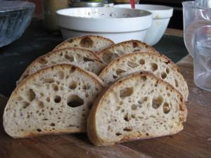 100% wheat sourdough bread baked by Jane Mason