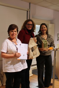 Here is Gaye with Sybille Wilkinson from Gilchester's and Jane Mason from Virtuous Bread