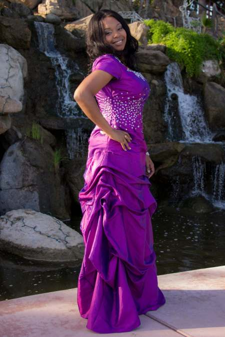 Aurora Purple Modest Prom Dress with Sleeves