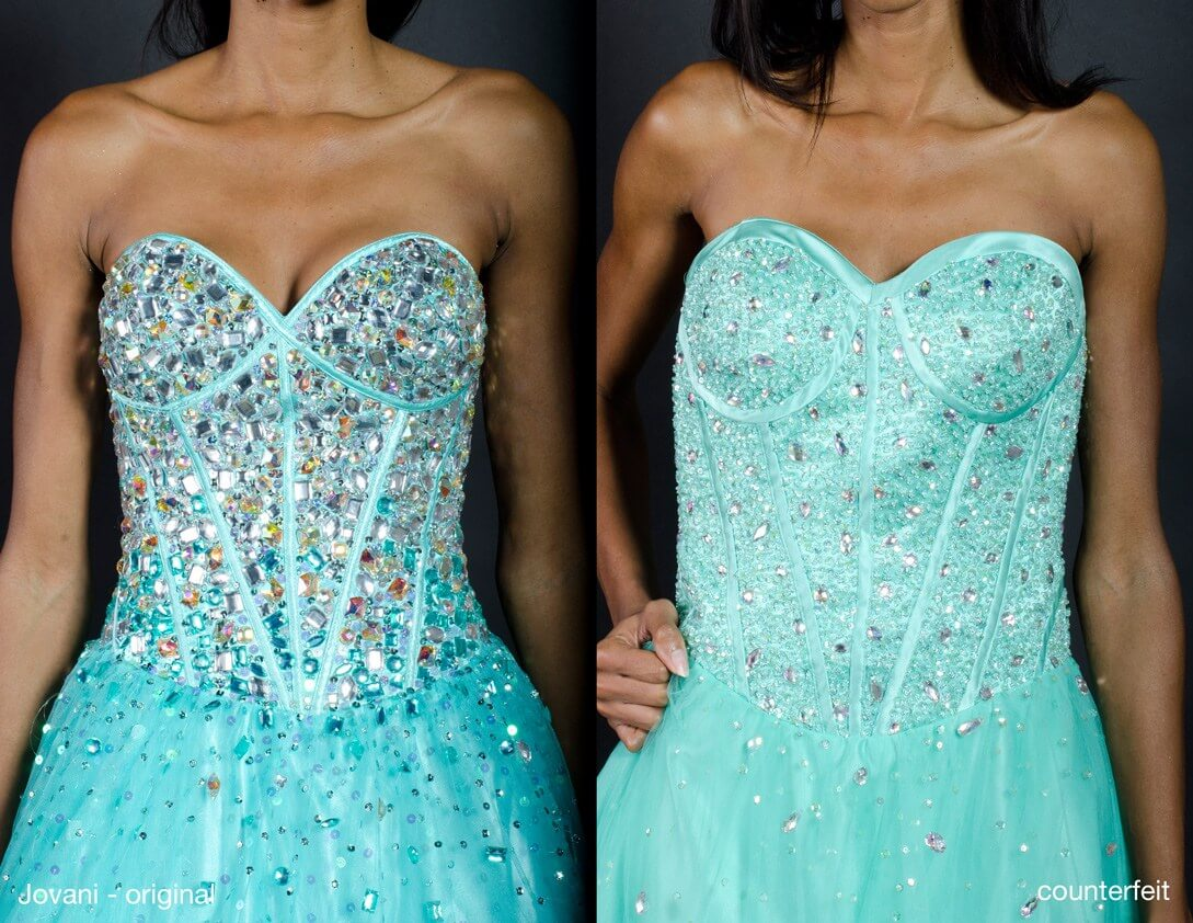 A Jovani Original & Counterfeit Dress