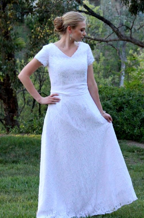 Kimberly Modest Lace Wedding Dress