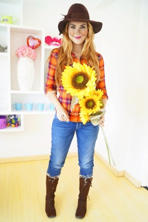 Easy DIY Scarecrow Halloween Costume