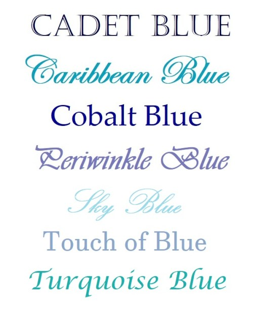 Something Blue Color Options