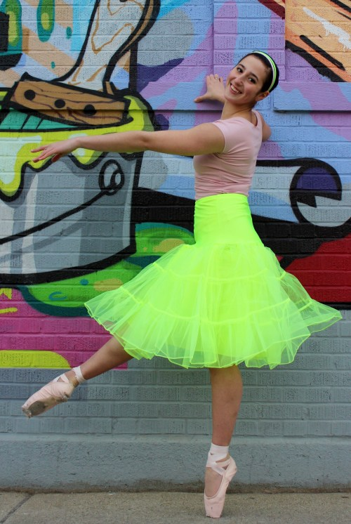 Serena Lime Green Retro Tea Length Petticoat Slip En Pointe