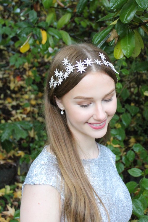Vintage Inspired Silver Art Deco Star Bridal Headpiece