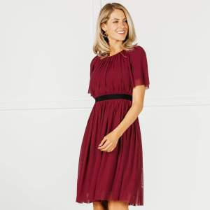 Downeast Red Mesh Party Dress