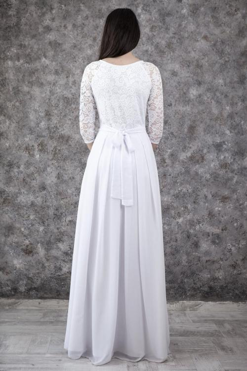 Back Christina Lace Modest Wedding Dress