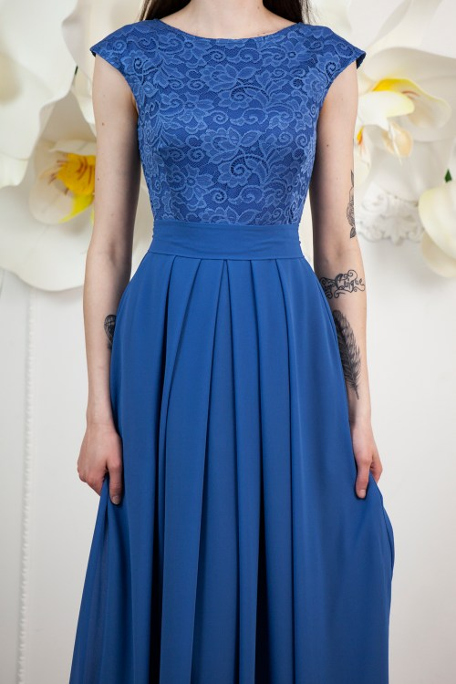 Close Up Marina Ocean Blue Lace Modest Prom Dress.jpg