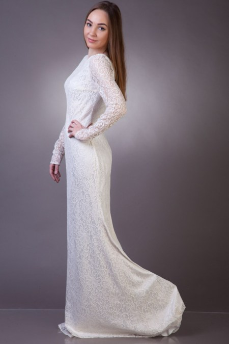Sideview Angelica Modest Wedding Dress Sleeves
