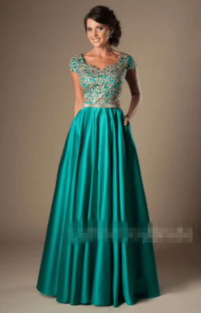 AliExpress Counterfeit Modest Prom Dress Picture