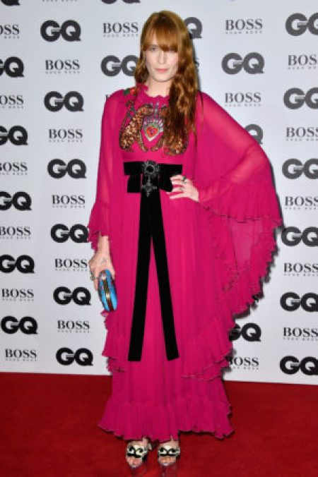 Florence Wearing Red Bohemian Gucci Gown