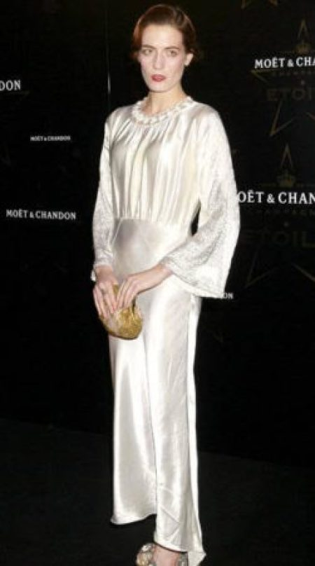Florence Welch Moet & Chandon Etoile Awards London 2011 Pearlescent Grecian-Inspired Vintage Gown