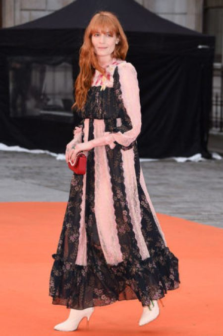 Florench Welch Black Pink Gucci Gown Royal Academy Summer Exhibition Party