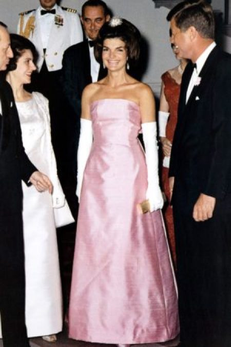 1962 Christian Dior Pink Evening Gown Jackie O
