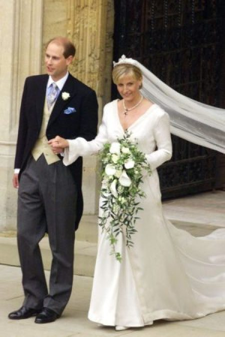 Sophie Rhys-Jones Modest Wedding Dress