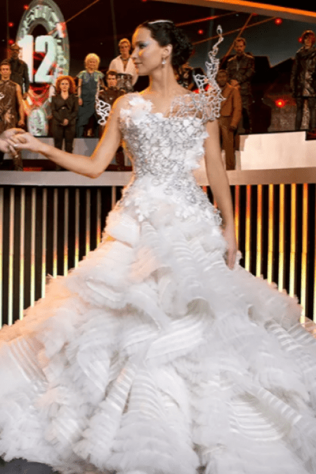 Katniss Everdeen Hunger Games Catching Fire Wedding Dress