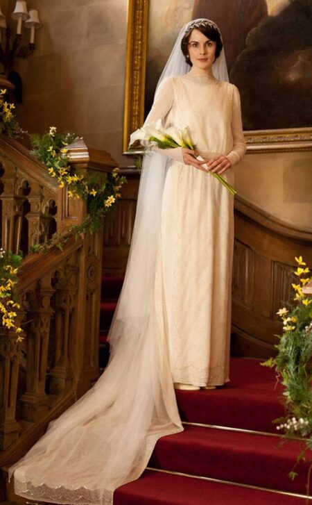 Lady Mary Crawley Wedding Dress Downton Abbey