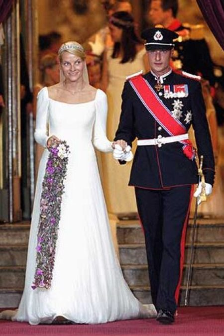 Princess Mette-Marit Norway Ove Harder Finseth Modest Wedding Gown