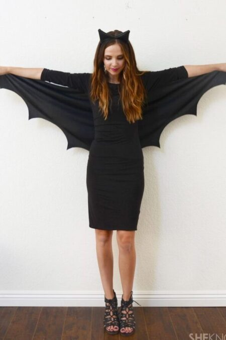 Modest Bat Halloween Costume