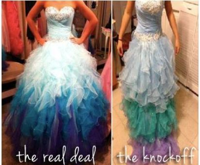 Genuine & Counterfeit Prom Dress